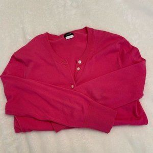 Pink J. Crew Button Cardigan Sweater XS
